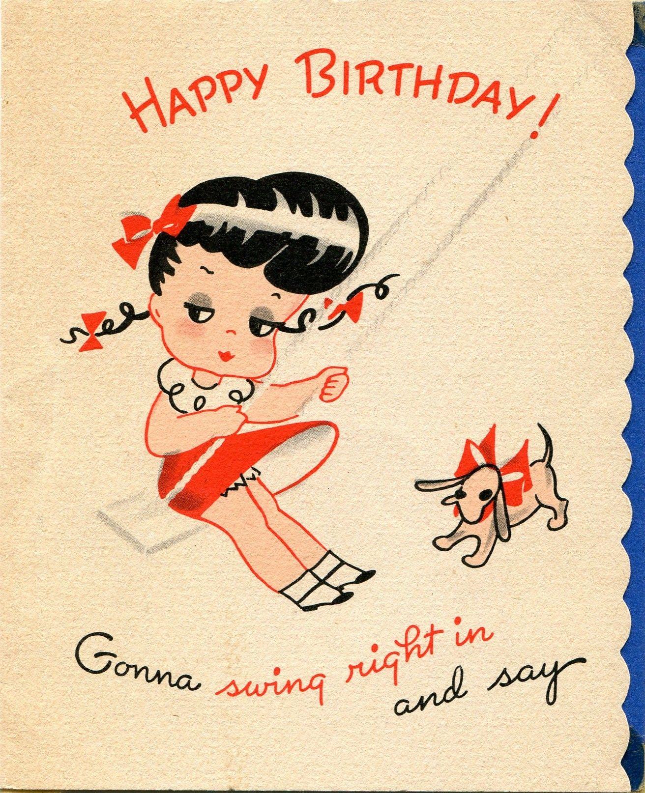 1948 Birthday Card Vintage Birthday Cards Birthday Cards Vintage Birthday