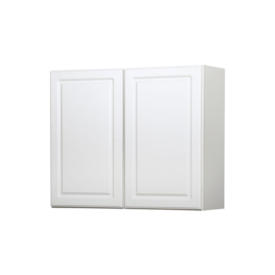 Shop Kitchen Classics 30 In H X 36 In W X 12 In D Concord White Double Door Wall Cabinet At Lowes Com White Doors Kitchen Wall Cabinets Double Door Design