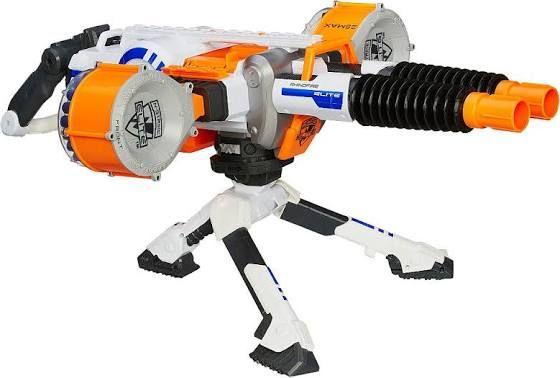 Nerf machine gun gatling cannon blaster tactical game kids rifle toy mega  fun
