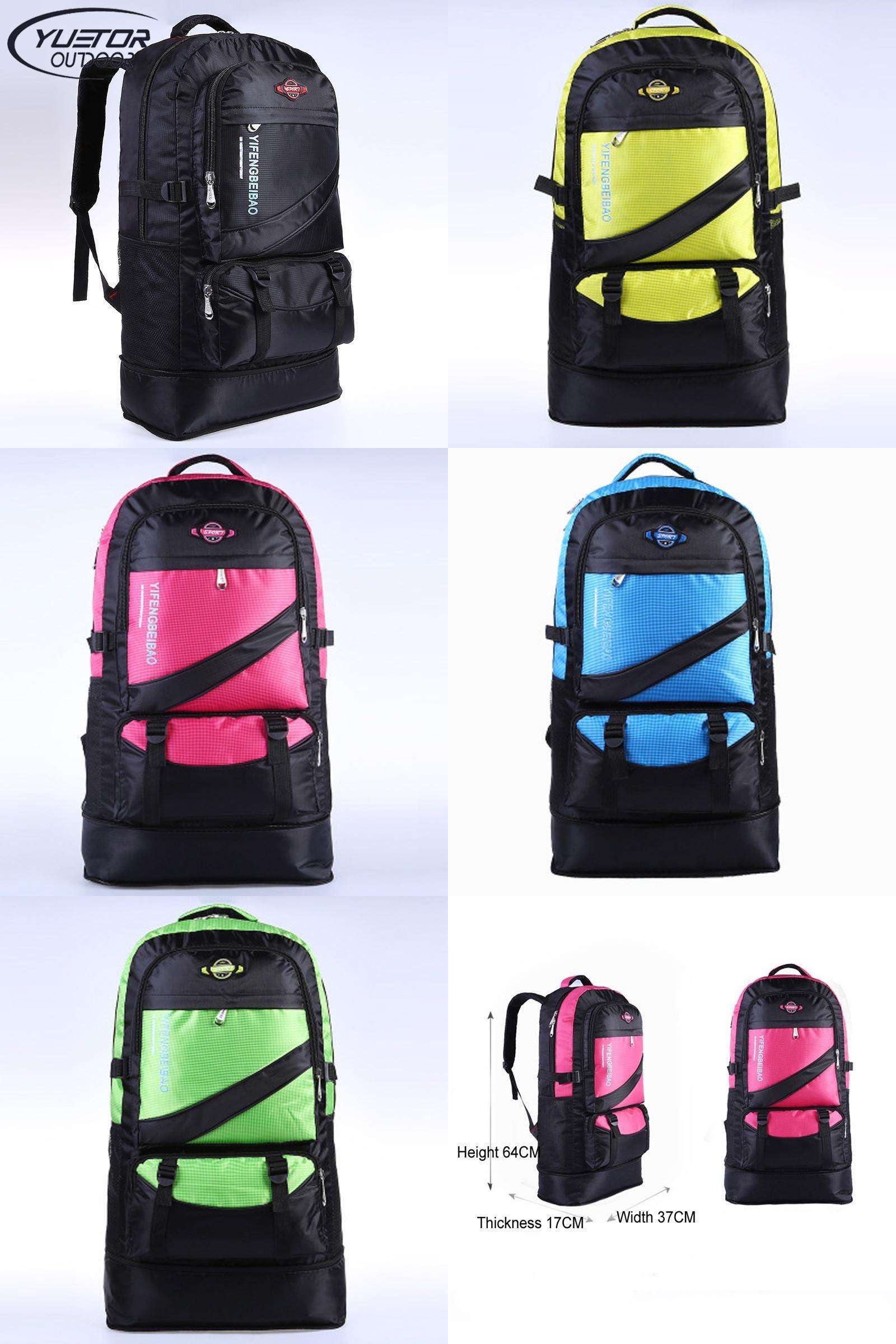 9294dbdd60  Visit to Buy  YUETOR 60L large waterproof outdoor hiking backpack camping  mochila travel rucksack
