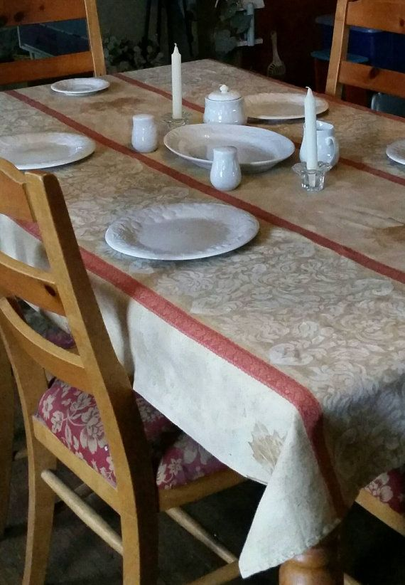 Tablecloth Handmade Long Table Cover By Wildthings2treasure 53