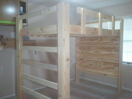 How To Build A Full Size Loft Bed Build A Loft Bed Loft Bed Plans Loft Beds For Teens
