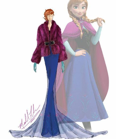 princesse disney ce designer remet les robes au go t du. Black Bedroom Furniture Sets. Home Design Ideas