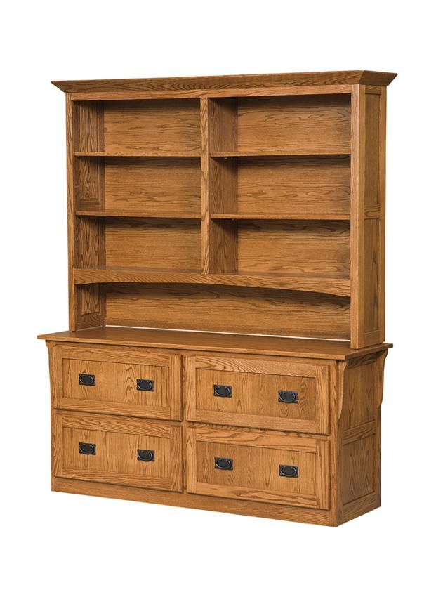 Amish Mission 4 Drawer Lateral File Cabinet And Bookcase Lateral File Cabinet Bookcase Filing Cabinet