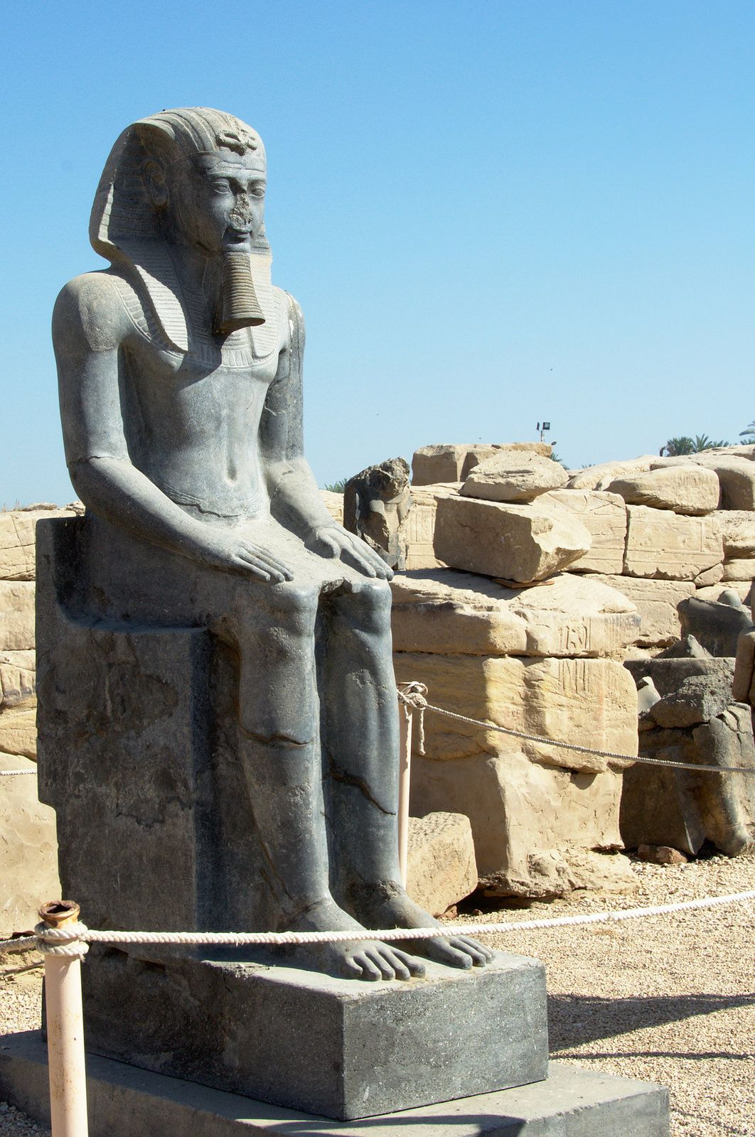 Statue of a Pharaoh,  Temple of Mut