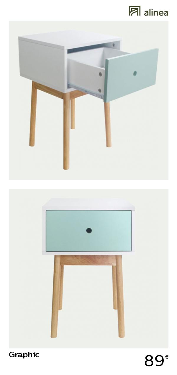 petite table de chevet fille alinea