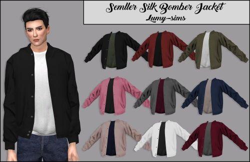 LumySims: Semller Silk Bomber Jacket • Sims 4 Downloads