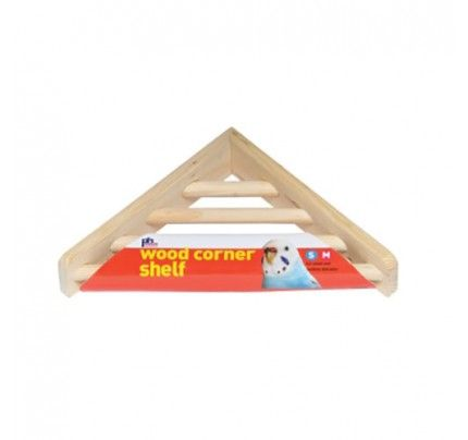 "Wood Corner Shelf - Medium - 7"""