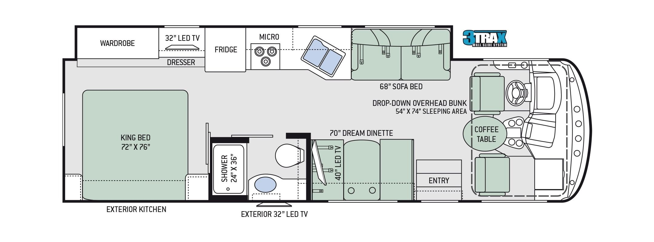 Thor Windsport 29m Camping World Hkr 1509796 Floor Plans How To Plan Flooring