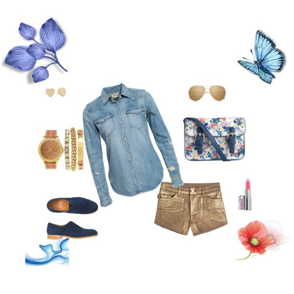 Casual by angelicacristie on Polyvore featuring moda, Denim & Supply by Ralph Lauren, Zadig & Voltaire, Toast, Pieces, Kate Spade, Charlotte Russe and Linda Farrow