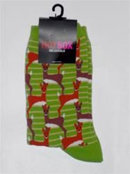 Hot Sox Deer Design GREEN