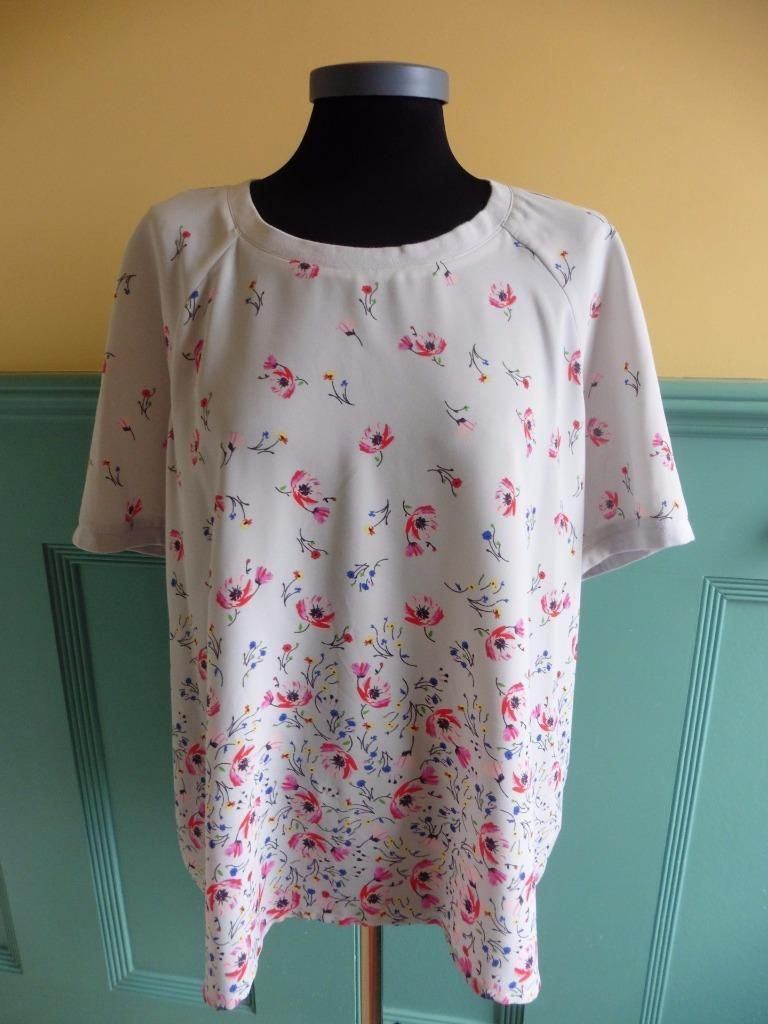 White t shirt ebay uk - Details About Size Uk 22 Per Una Marks Spencer M S Grey Floral Print Top Blouse Shirt