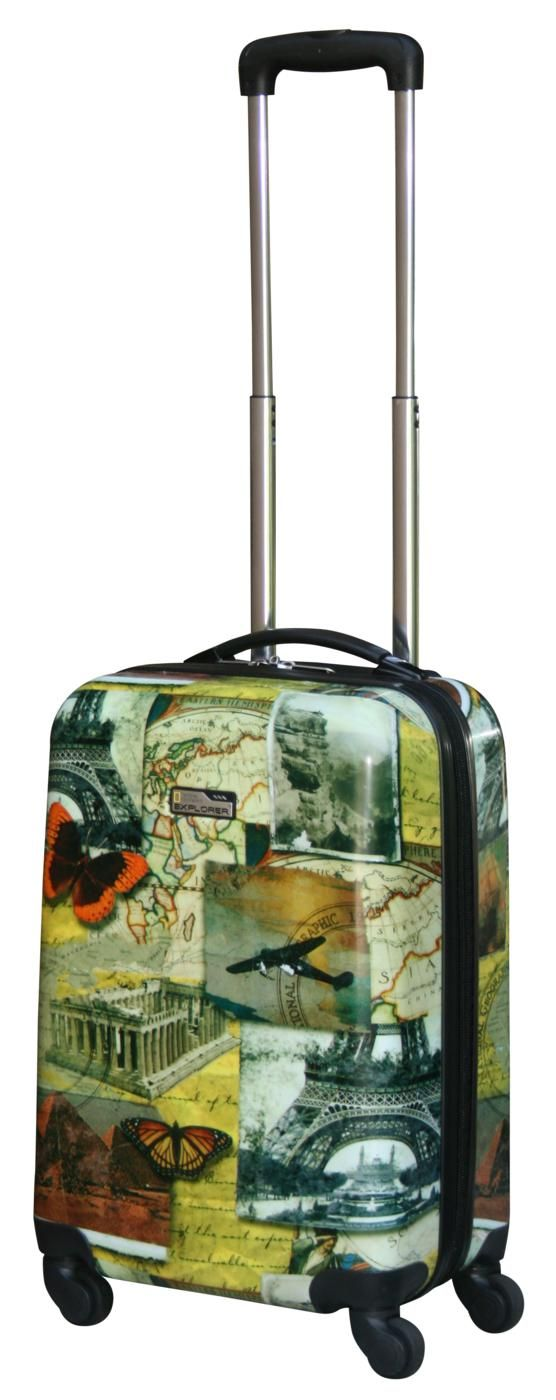 Travel collage hardside carry-on by Travelpro. 4 independent full rotation wheels for 360 degree movement. Retractable handle with multiple heights as well as top and side carrying handles. $119.95