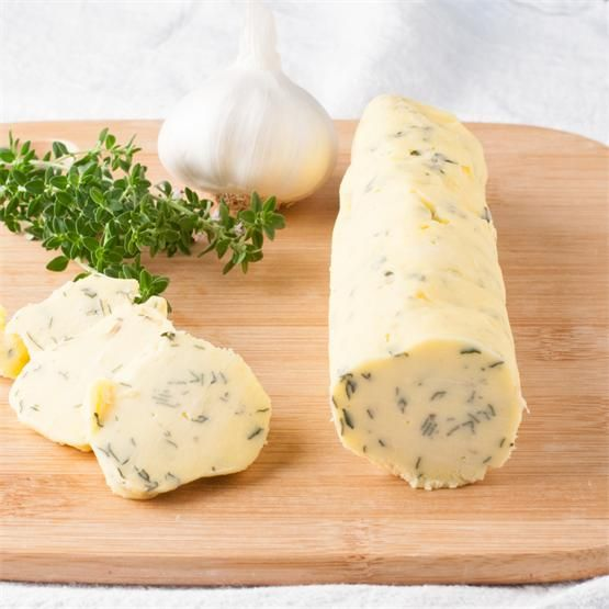 Garlic Thyme Compound Butter by @mywifecancook