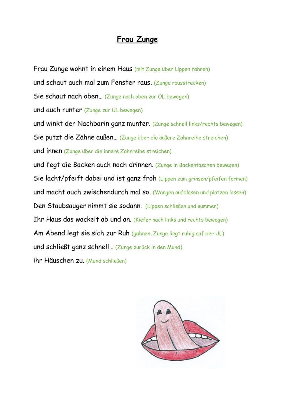 Frau Zunge (MuMo-Gedicht) - myofunktionelle Störung | Pinterest ...