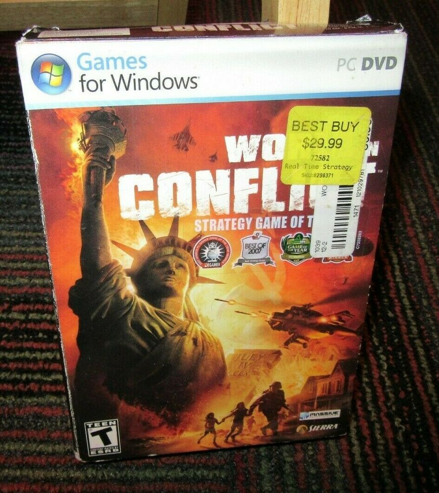 WORLD IN CONFLICT PC DVD-ROM GAME FOR WINDOWS, COMPLETE WITH