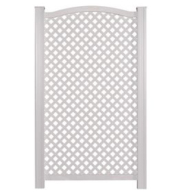 Barrette 61 in x 37 1 4 in white vinyl polyresin outdoor for Outdoor privacy screen white