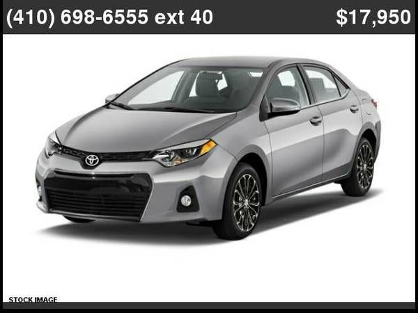 Cool Toyota 2017 2015 Toyota Corolla S Plus Silver Used Cars