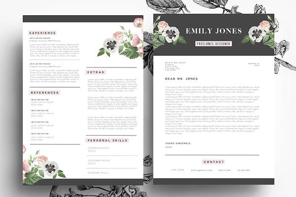 creative resume    psd   word - resumes