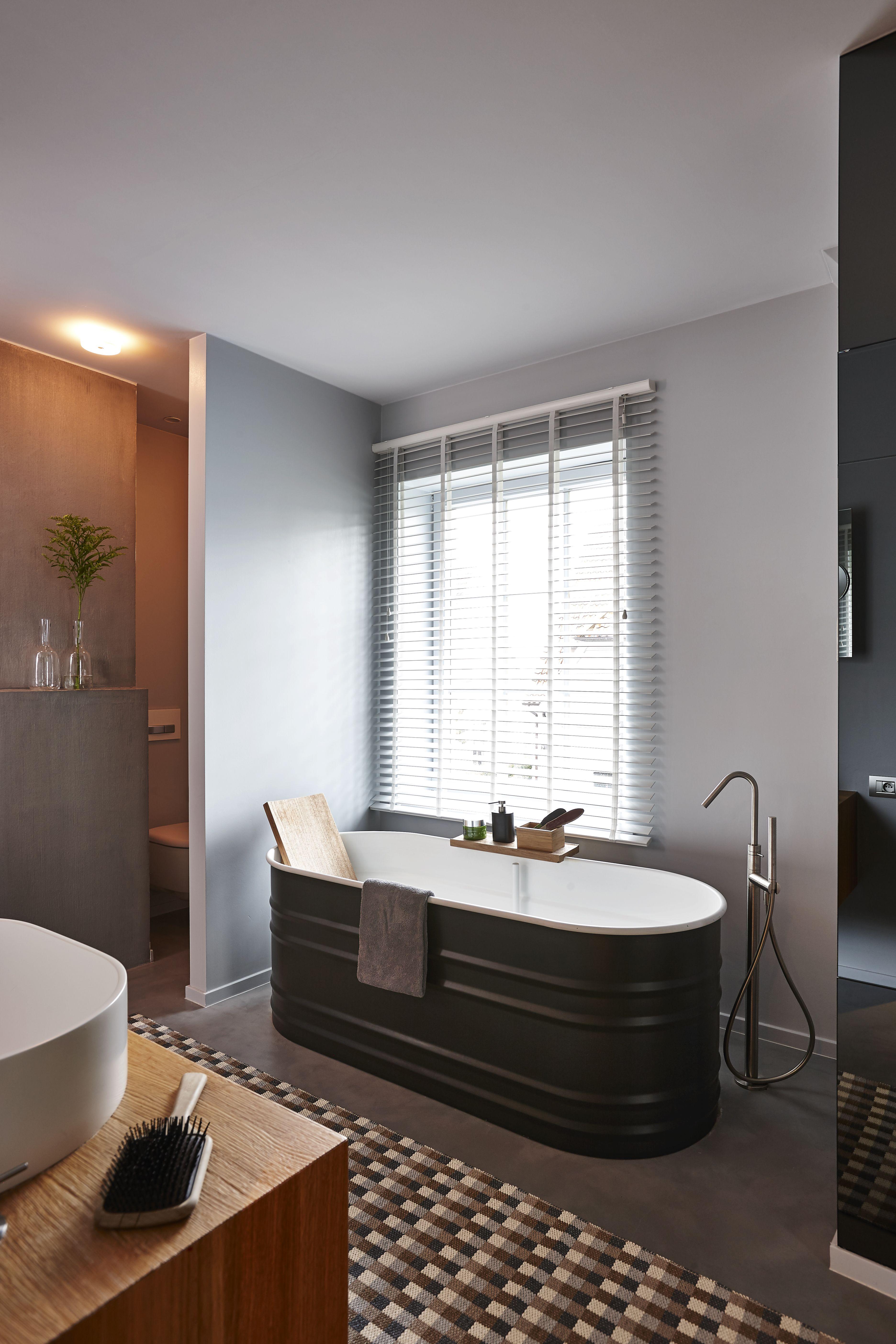Fabricant Beton Cire France béton ciré couleur gris acier (nancy geernaert) | salle de