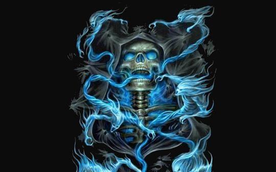 Cool Skull Wallpaper HD | download badass skeleton mirror | B GrimmmmmZ | Harley tattoos, Harley ...