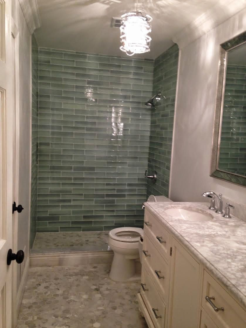 Customer Bath With Our New Haven Glass In The Shower And Hampton