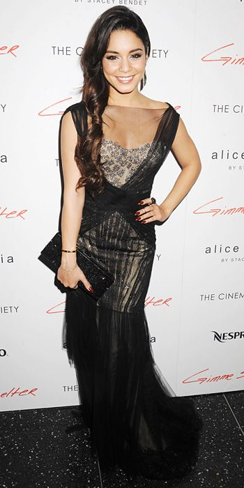 Look of the Day - January 23, 2014 - Vanessa Hudgens in Monique Lhuillier #InStyle