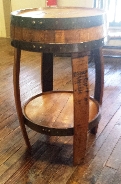 Meuble En Tonneau De Vin bourbon barrel stave tablebluegrassbourbonstav on etsy