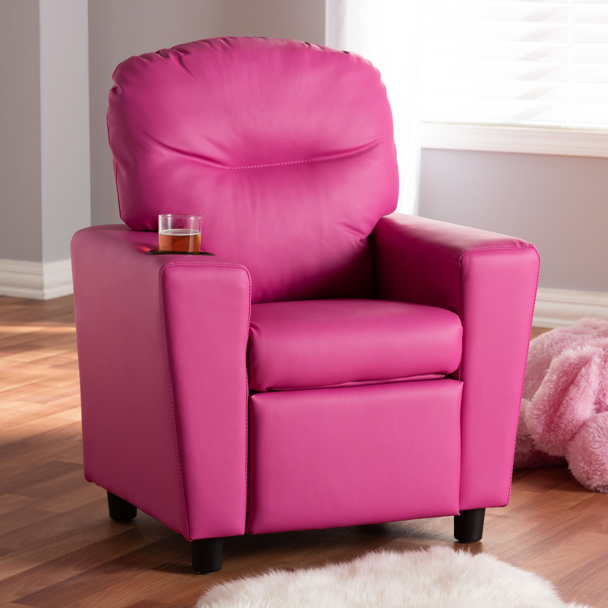 Brilliant Baxton Studio Evonka Modern And Contemporary Magenta Pink Andrewgaddart Wooden Chair Designs For Living Room Andrewgaddartcom