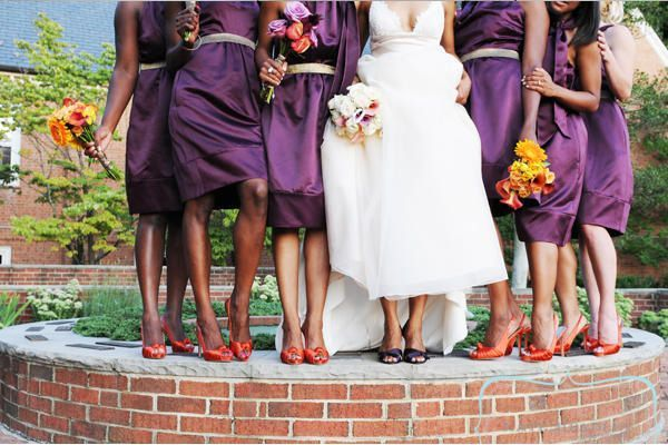 Pink Or Orange What Color Shoes To Wear With Purple Dress For Bridesmaids