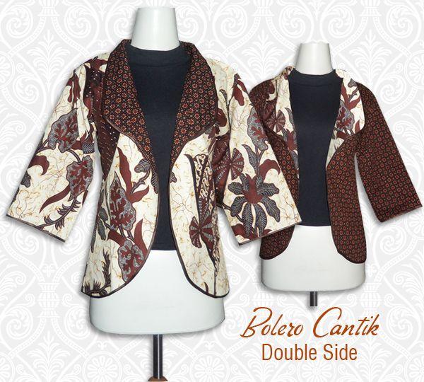 Bolero batik atau cardigan batik terbuat dari bahan katun primis sehingga  adem dan nyaman dipake. Bisa bolak balik 2b4fa50283