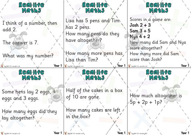 Teacher\'s Pet - Year 1 Maths Challenge Cards (pack 2) - Premium ...