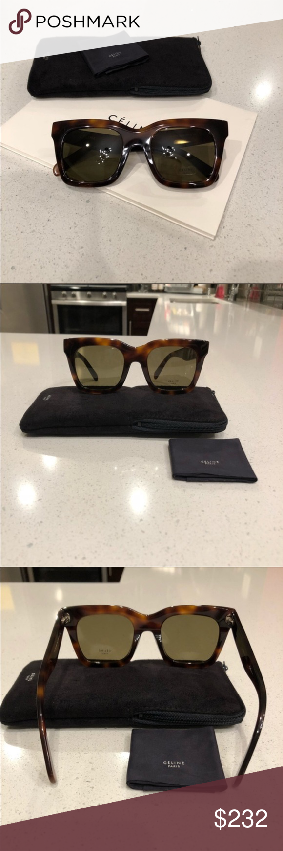 e44a2228fd8f Celine sunglasses 😎 Celine Luca Havana green sunglasses New