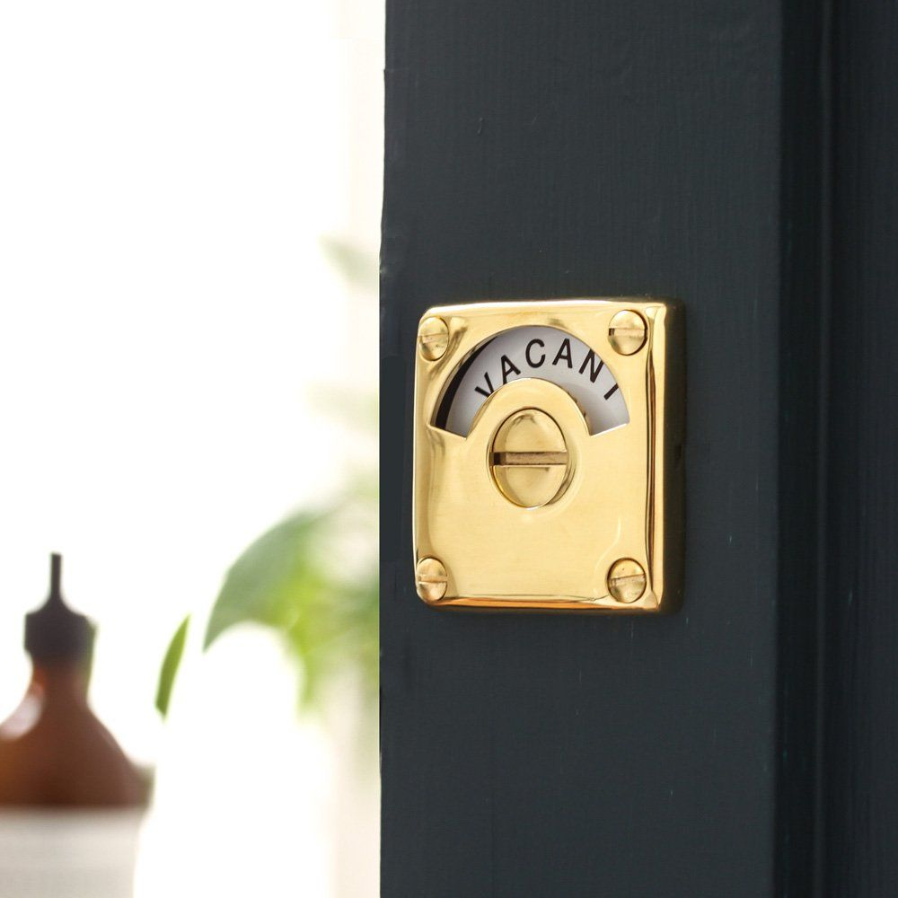 Brass Vacant Engaged Lock Door Furniture Brass Vacant