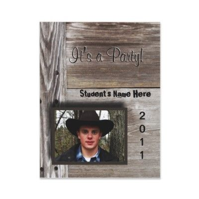 Country Barn wood open house for graduation Card Country barns - open house templates