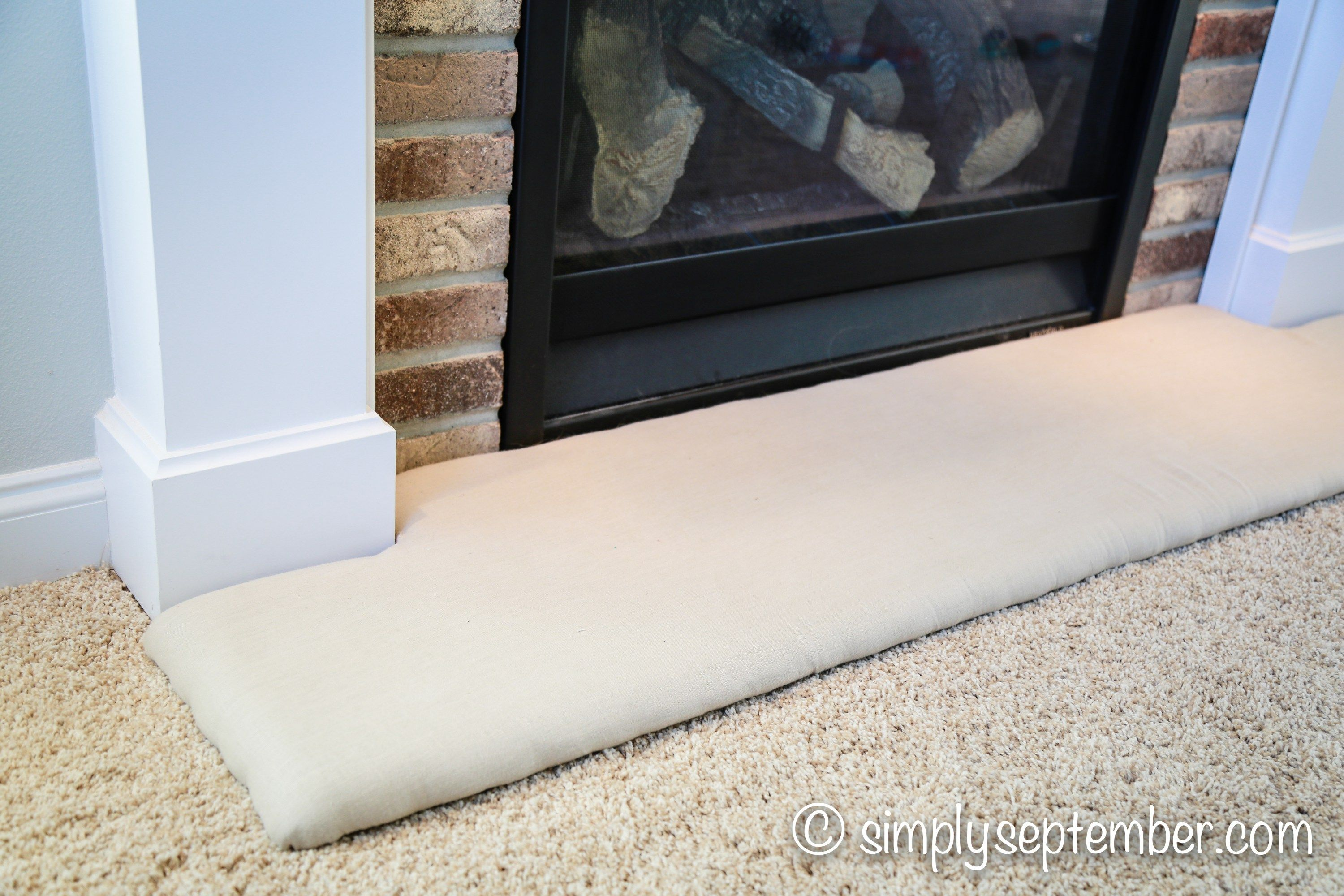How to Baby-Proof a Fireplace: DIY Hearth Cushion | Fireplace ...