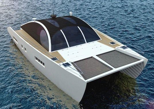 Marvin The Martian An Eco Friendly Solar Powered Pleasure Boat