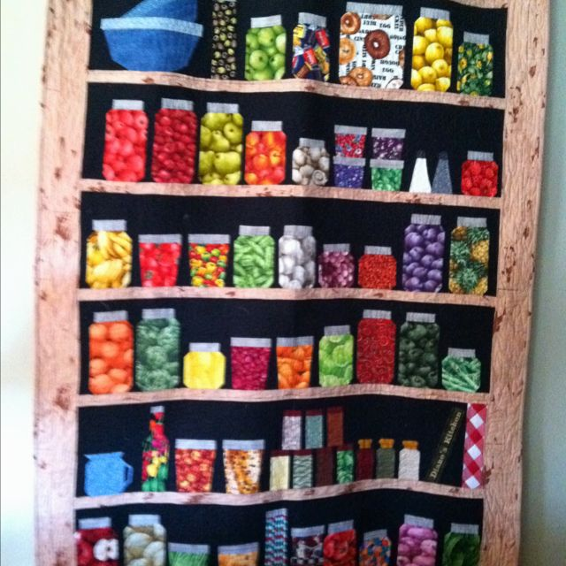 Another jar quilt. I have been collecting fabrics to make one of ... : canning jar quilt pattern - Adamdwight.com