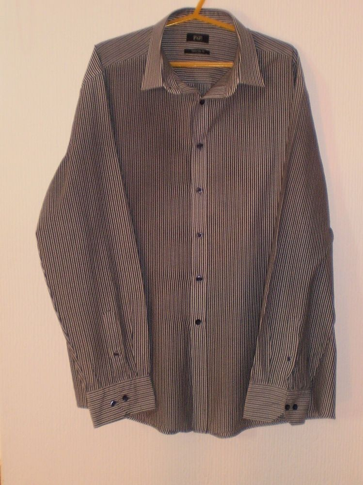 2676cf1f707 Florence and Fred Mens Tailored Fit Multi Coloured Striped Shirt 17.5