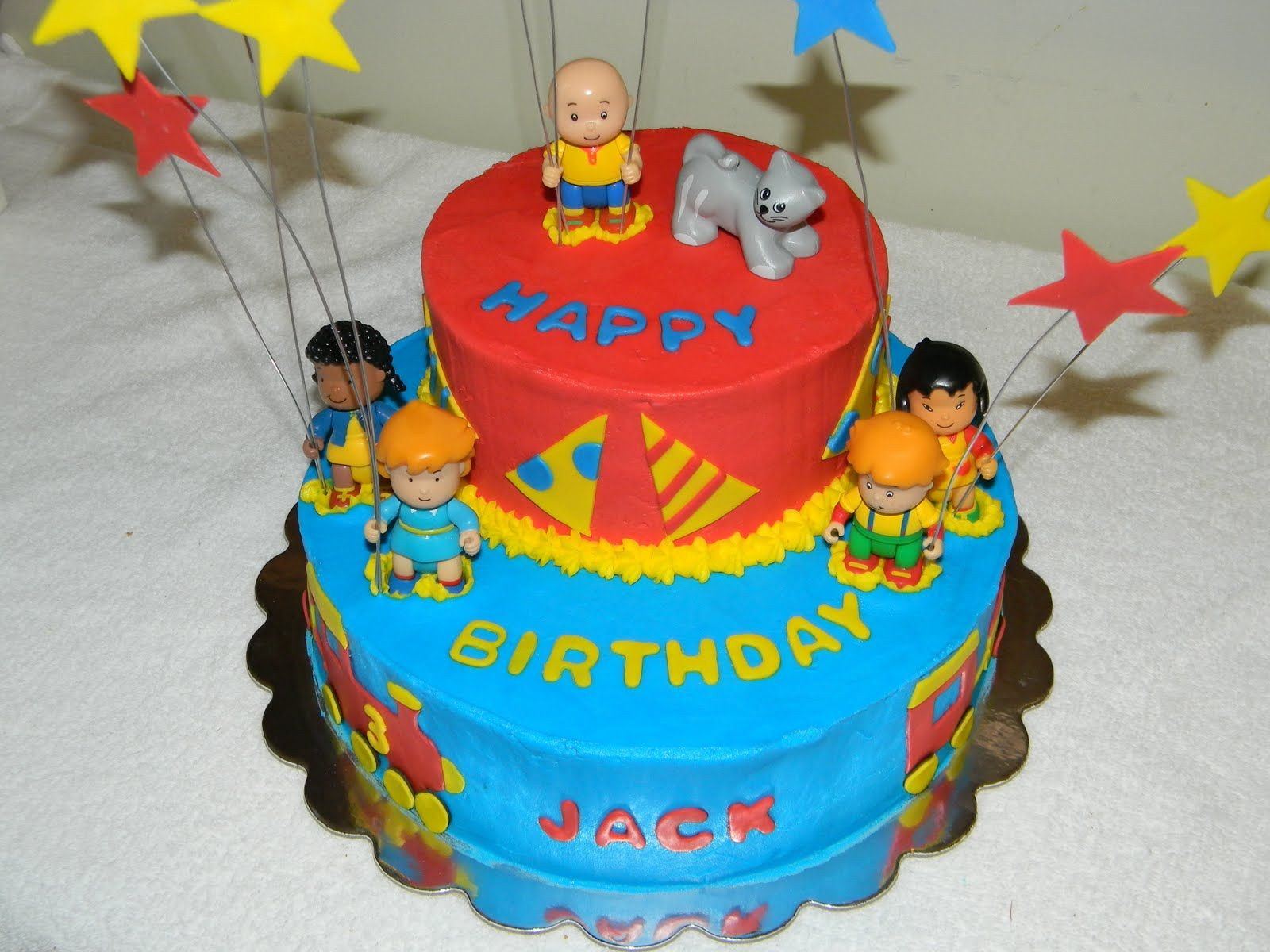Birthday Cakes For Boys With Name ~ Another cute caillou cake! great ideas! presents for colton