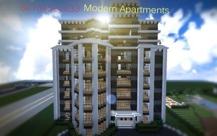 Modern Apartment Building Minecraft Castle Blueprints Designs All