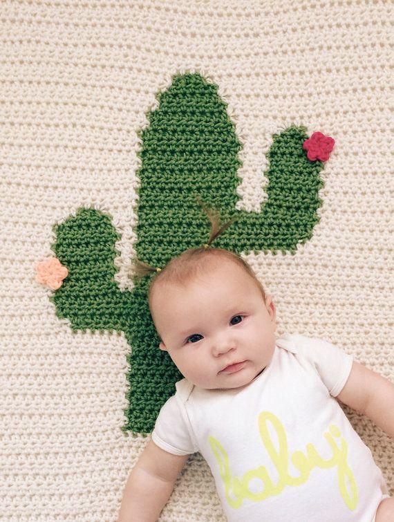 Resultado de imagem para Crochet Cactus Blanket