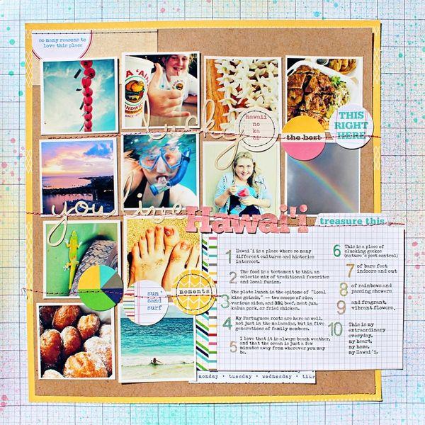 Lucky You Live Hawai'i -- Elle's Studio by Jill Sprott @2peasinabucket