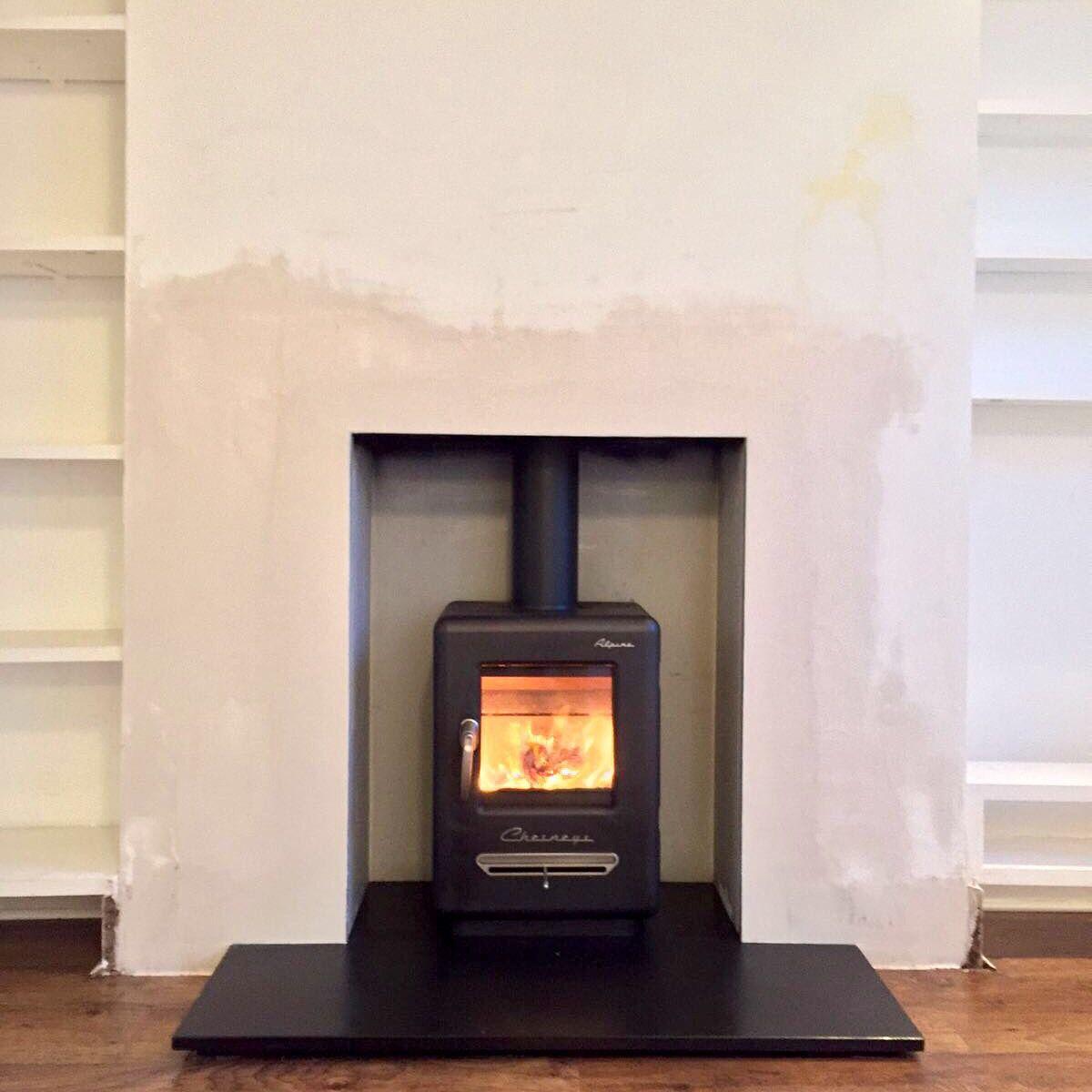 wood burning stove installation chesneys alpine 4kw fireplace