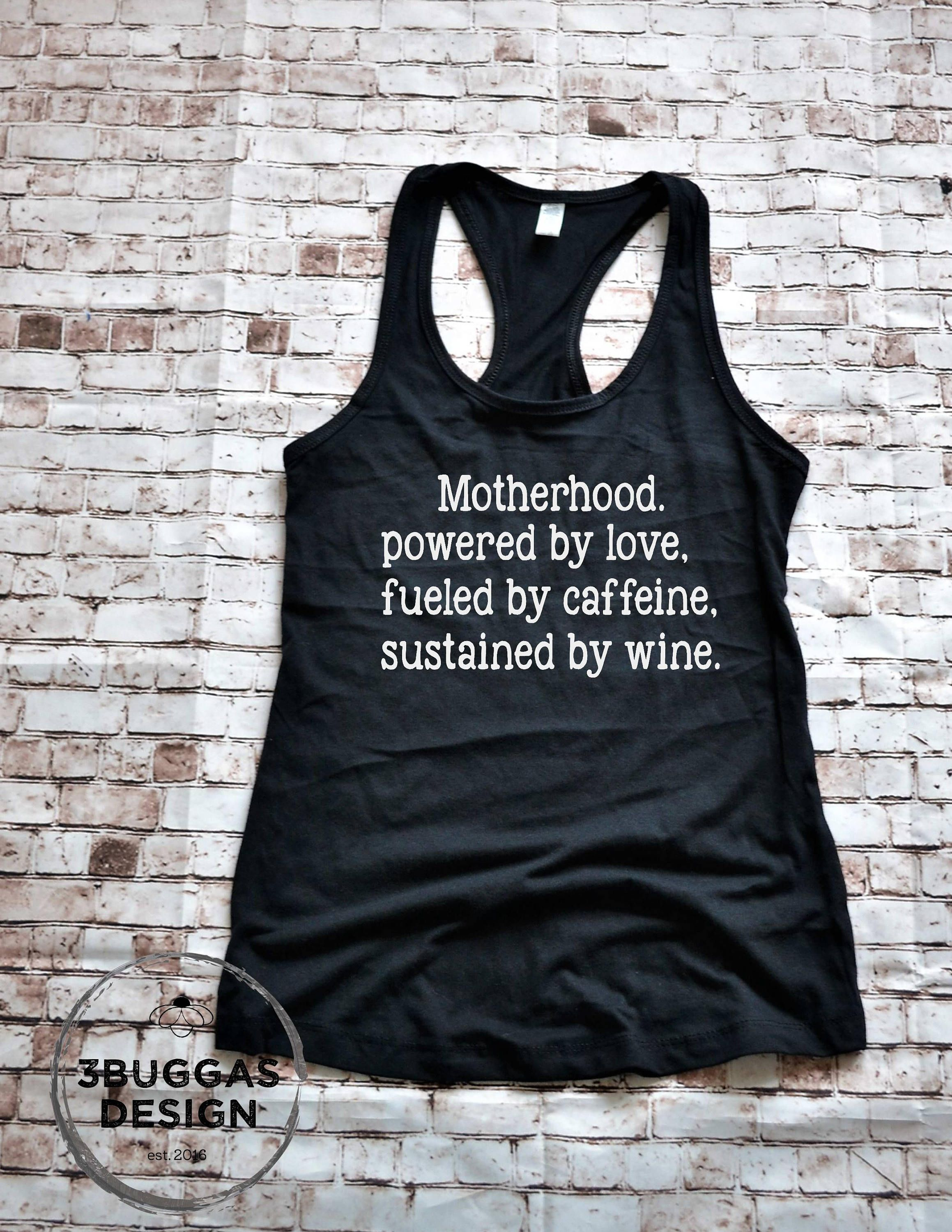 3588a94b ... Womens Running Motherhood Shirt By 3buggasdesign On. Funny Workout Tank  Sayings Clothes Tops