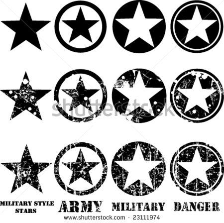 Vectors Military Stars Military Star Military Star Svg
