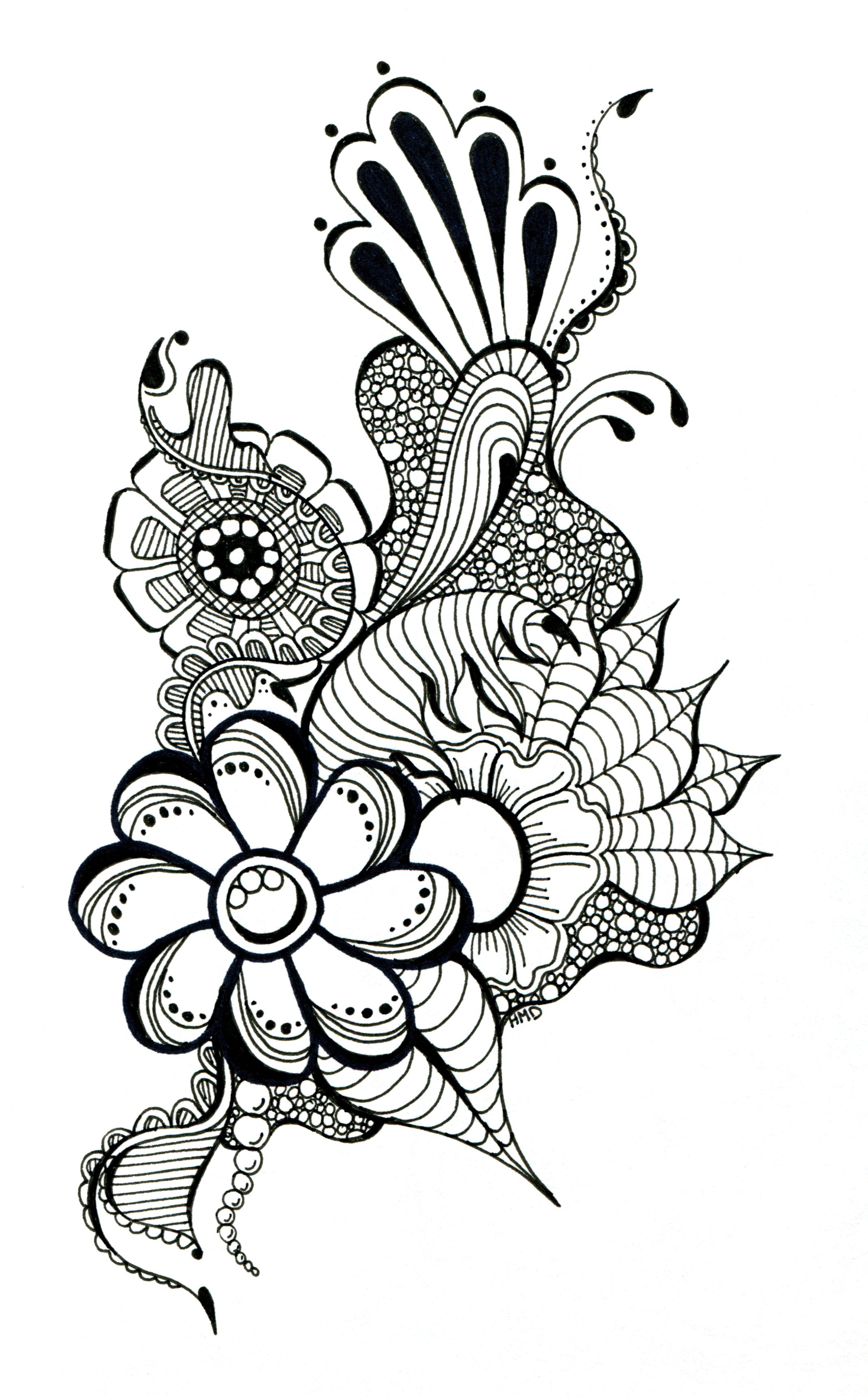 trippy flower doodles
