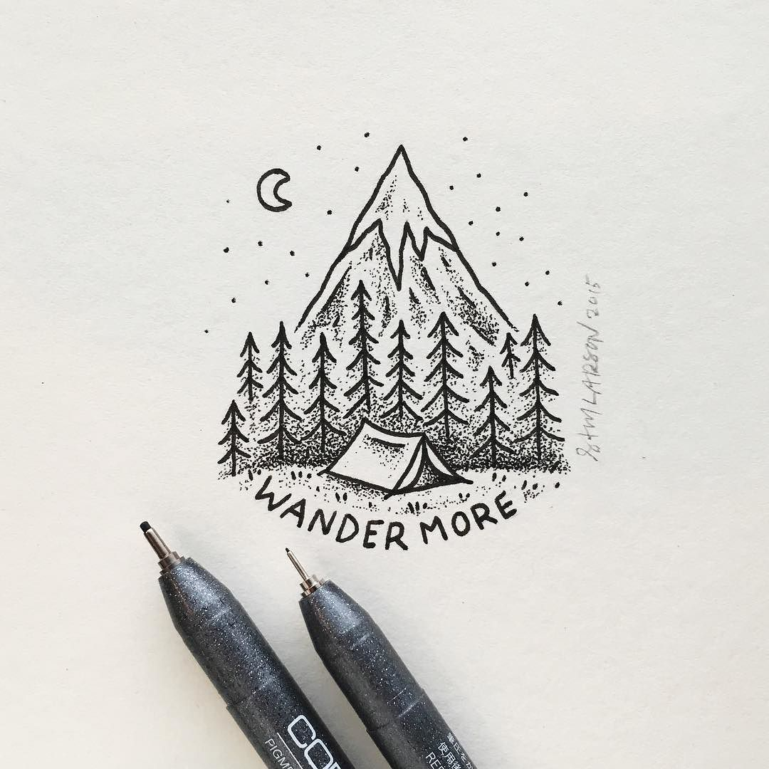 Work by samlarson follow us lettering for Cool easy pen drawings
