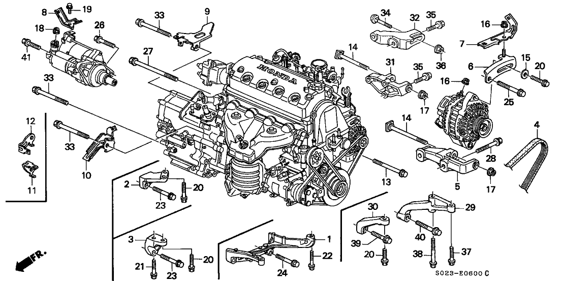 1997 Honda Civic 2 Door Ex Kl 5mt Alternator Bracket Honda Civic Parts Honda Civic Honda