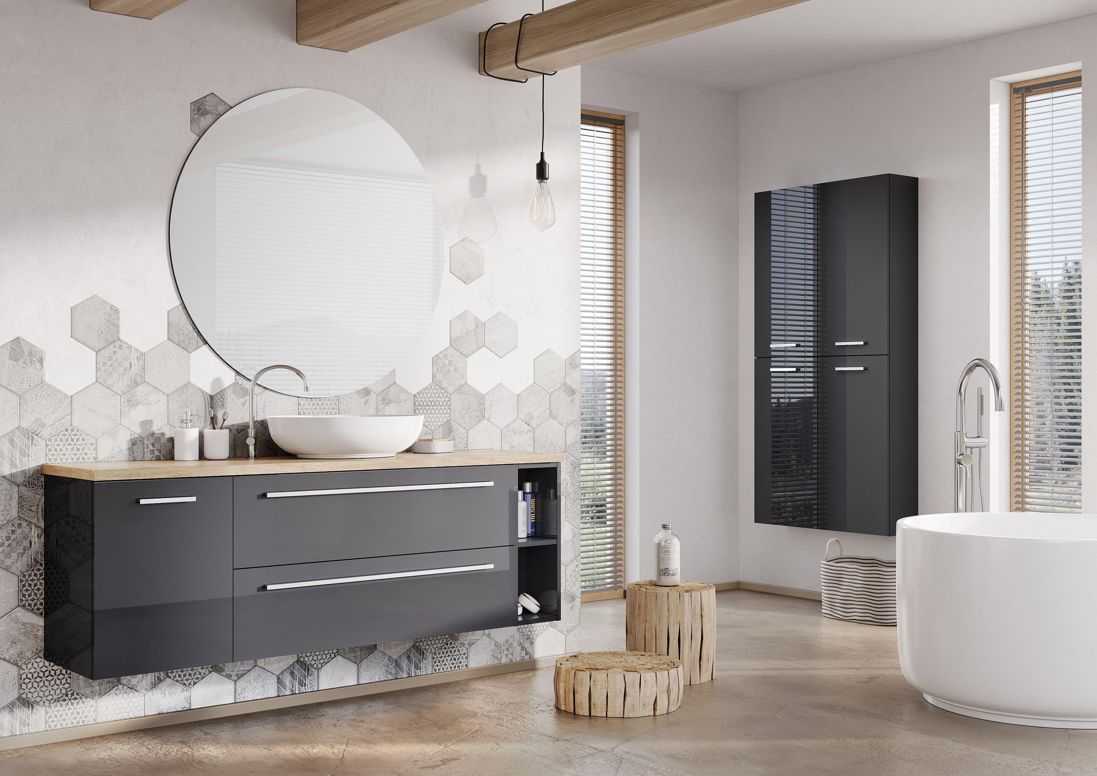 Meble łazienkowe bathroom furniture kwadro plus collection
